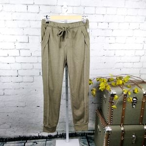 Free People Work It Out Drawstring Joggers In Army
